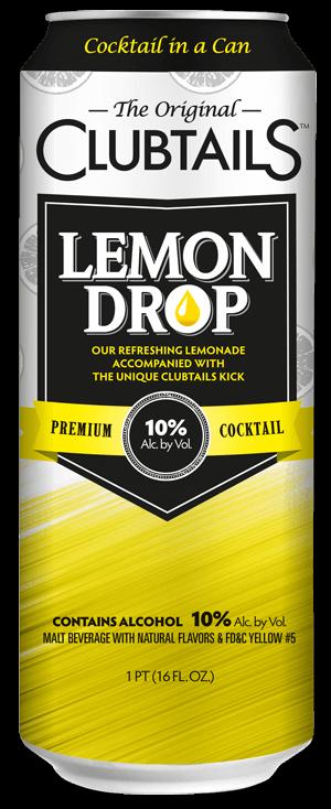 lemon drop clubtails cocktail in a can