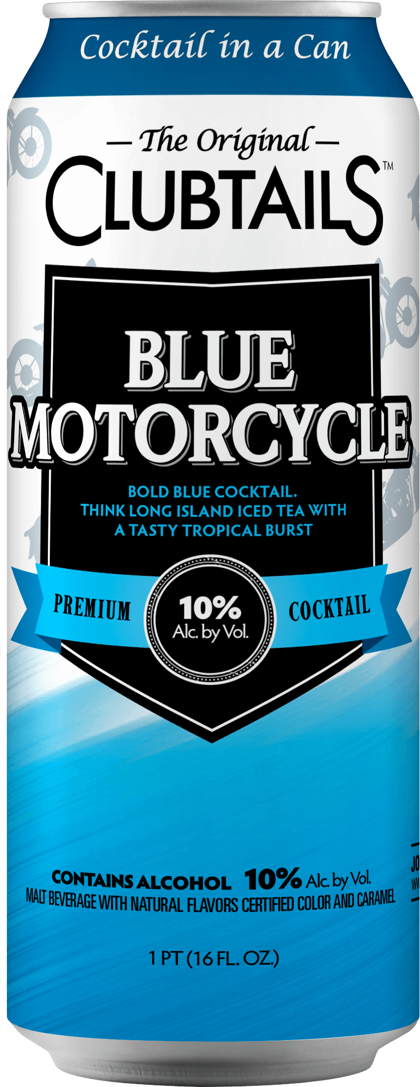 Clubtails: Blue Motorcycle